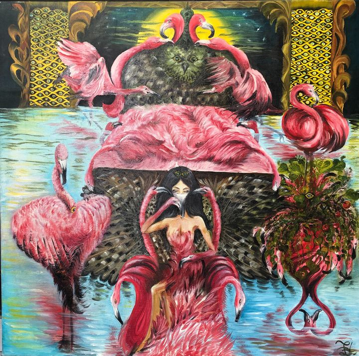 Flamingo Girl - Pic of Art