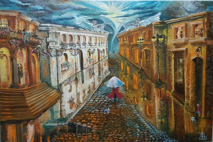 City Full of Love After Rain - Pic of Art
