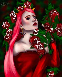 Queen of hearts in wonderland