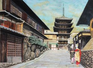 Two geisha in Kyoto - Etelier DuLac