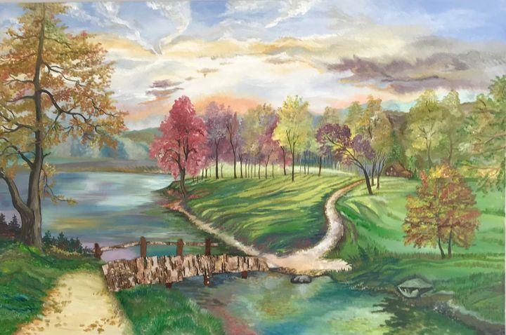 Spring - Malvina's oil paintings