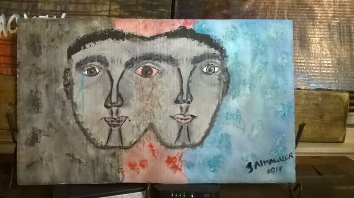 Bipolar - Original Abstract Acrylic Paintings By S Almaguer