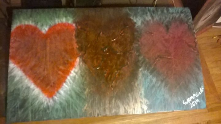 Healing Heart - Original Abstract Acrylic Paintings By S Almaguer