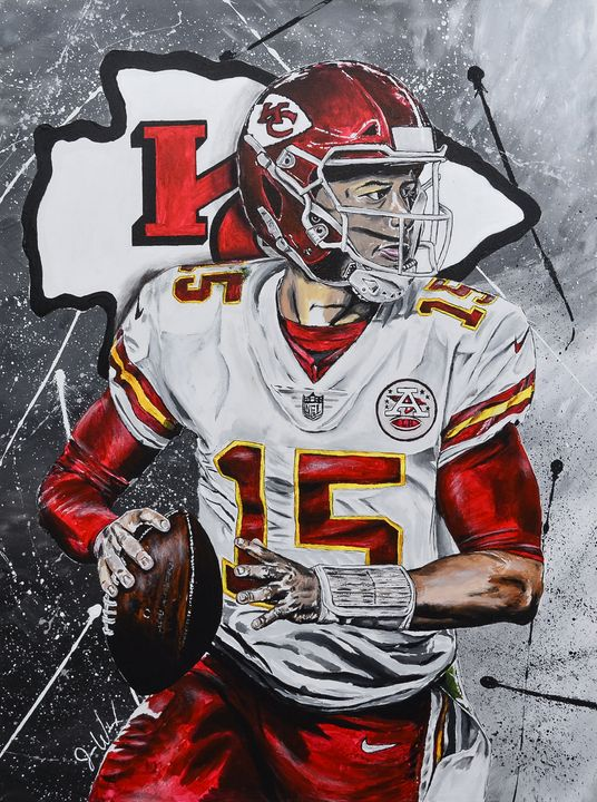 Patrick Mahomes - The Art of Jason Wilcox - Paintings ...