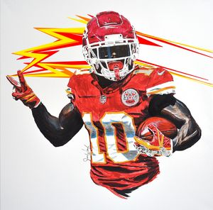 Tyreek Hill Electric Flame