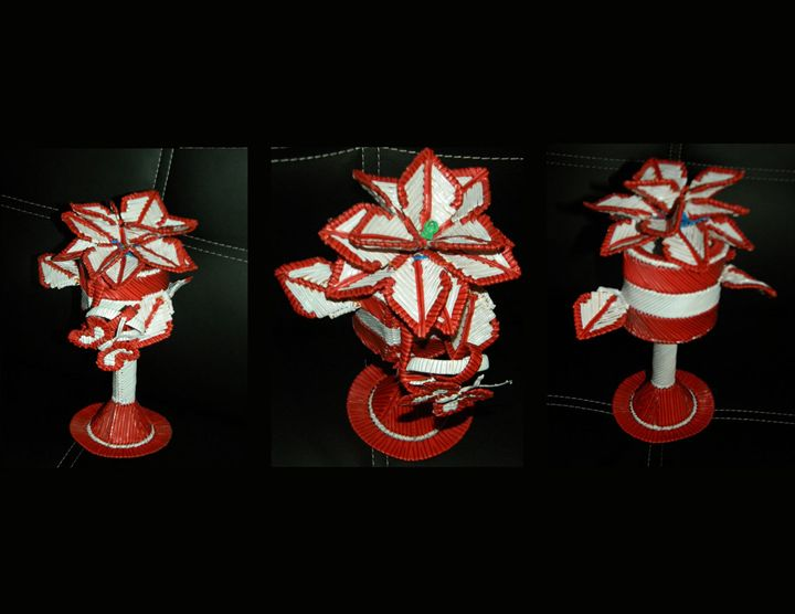 Cup Poinsettia - The Twist Tie Shop