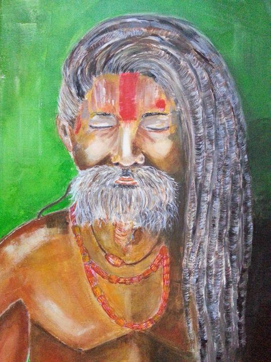 Meditating man - Cristina Panaet