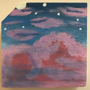 Pink Clouds and the Night Sky