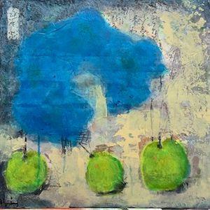 Three Green Apples