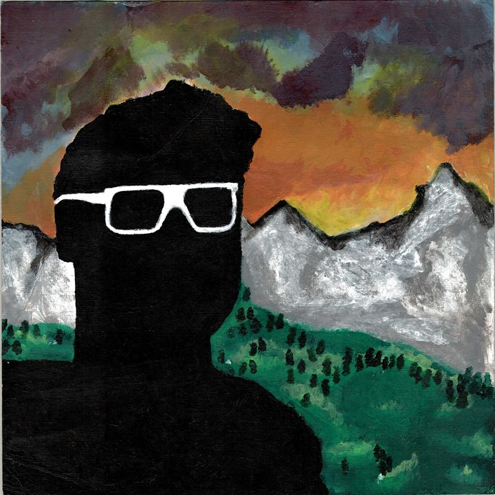 Silhouette by the Mountains - Some Goodass Art