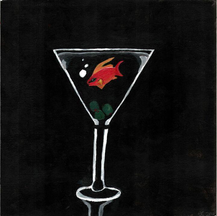 Fish in Martini - Some Goodass Art