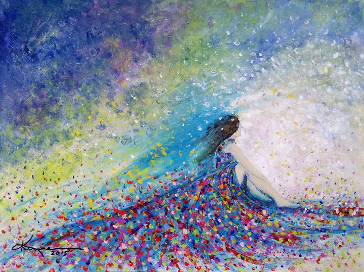Being a Woman - #5 In a daydream - Kume Bryant Art