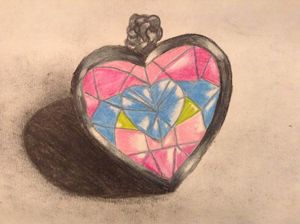 crystal Heart locket