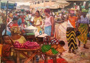 Ogiso Market 24 X 36 Print