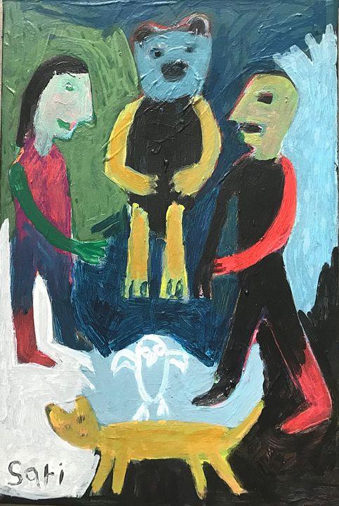 "#1598 ""Bear"" - Painted Visions"