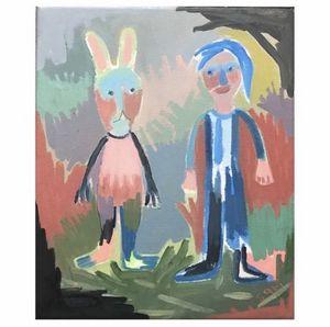 "#1632 ""Girl and Rabbit"""