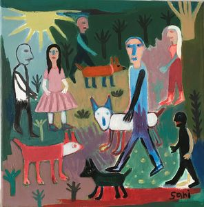 """#1604 """"Dog Walkers"""" - Painted Visions"""