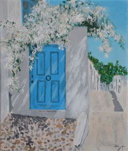 A quiet corner in a Greek village