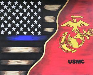 LEO Flag/USMC
