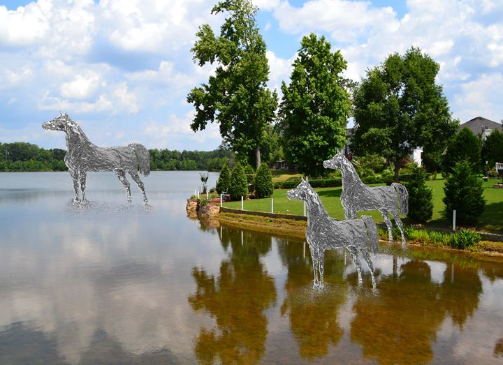 Horses Looking Out - Cleotha Williams