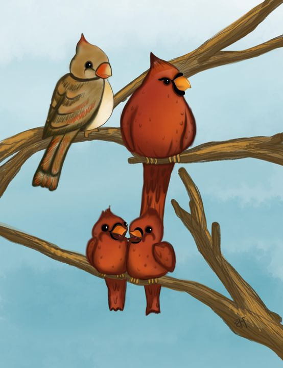 The Cardinal Family - Beverly Holtzem