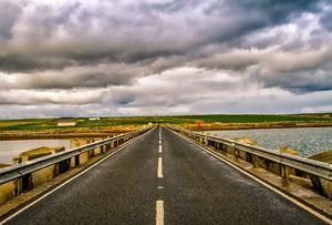 Churchill Barrier, Orkney, Scotland.