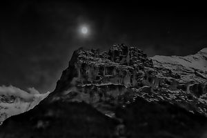 Moon over the Eiger
