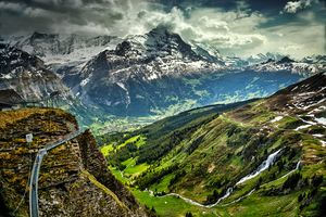 View into Grindelwald Valley