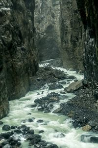 Melt-water River in Glacial Gorge