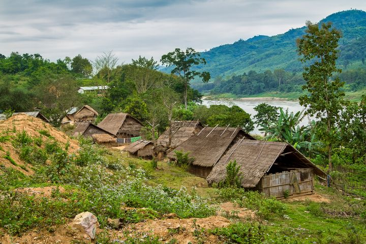 Tribal Village on the Mekong, Laos. - Rosewood Photographics