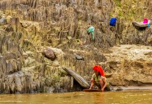 Panning for Gold on the Mekong River