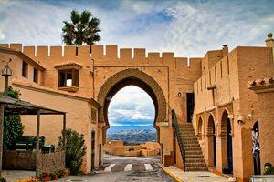 Moorish archway, Cabrera, Andalucia,