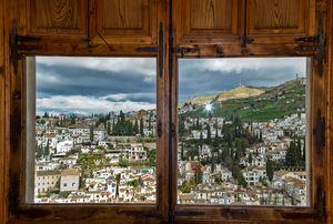 Window on Granada, Spain.