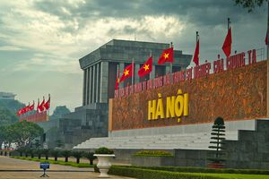 The Ho Chi Minh Mausoleum, Hanoi.
