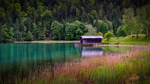 Boathouse in the Austrian Tyrol