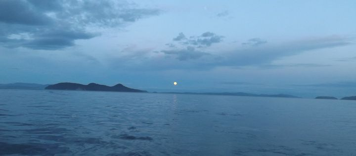 Full Moon over the Pacific - Jewell Art Expressions