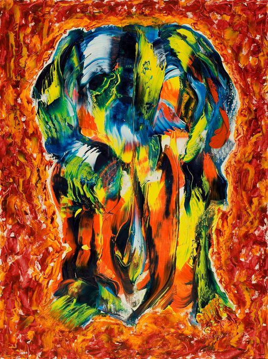 Elephant - Art by Peter Koschak, CH, SLO