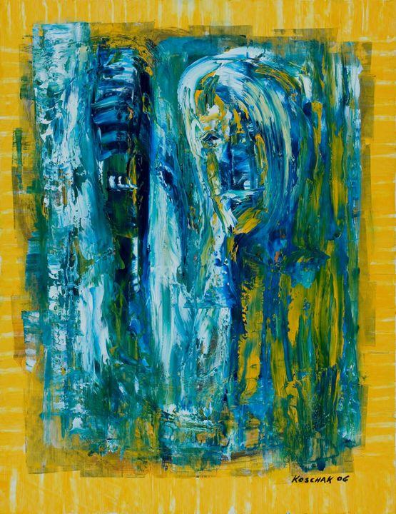 Kaim and Abel - Art by Peter Koschak, CH, SLO
