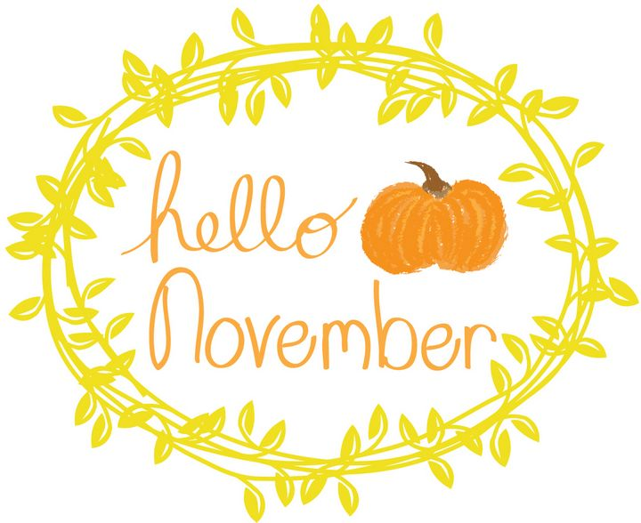 Hello November with Yellow Wreath - Bethany Trimble