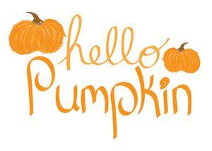 Chalkboard Hello Pumpkin