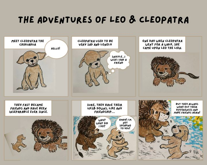 Introducing Leo and Cleopatra - Bevs Art and Soul