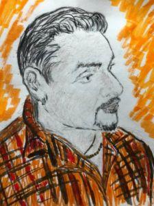 Portrait of a Man - Bevs Art and Soul