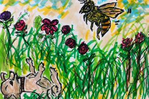 Cleopatra Garden and Bee - Bevs Art and Soul