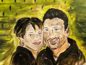Portrait of a Couple - Bevs Art and Soul