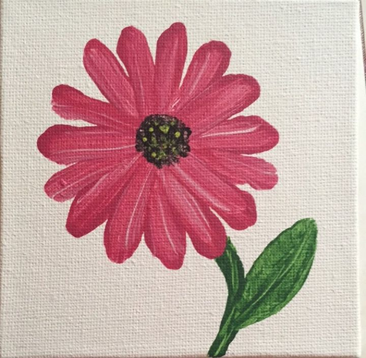 Pink Daisy - LeahLevinArt