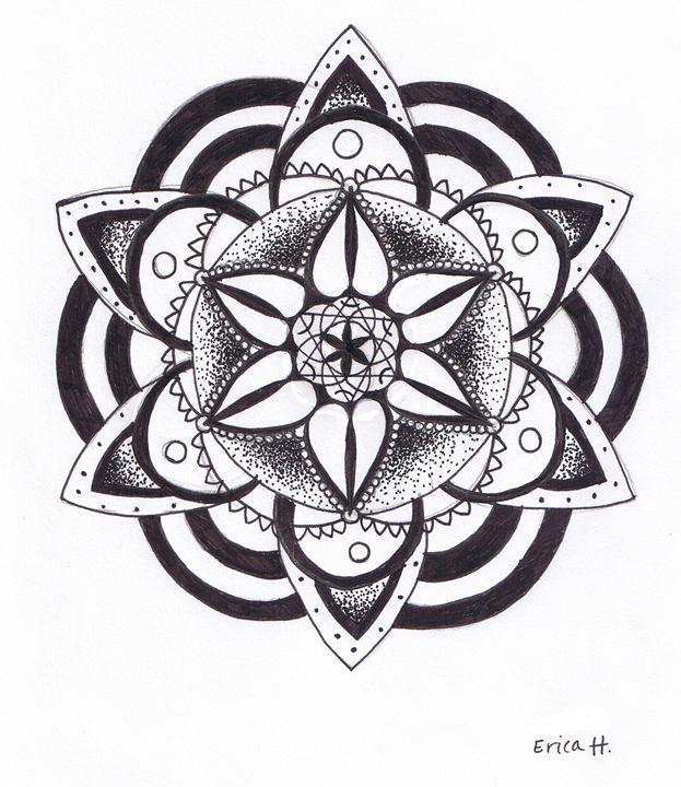 First Mandala - Erica's Drawing
