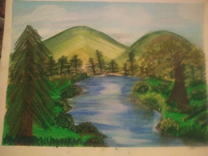 Mountain stream - Cassiopea's Art