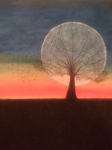 Sunset flock - Cassiopea's Art