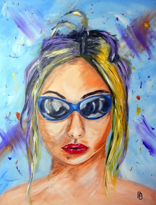 Lady Sunglasses. - Beckett's Art Page
