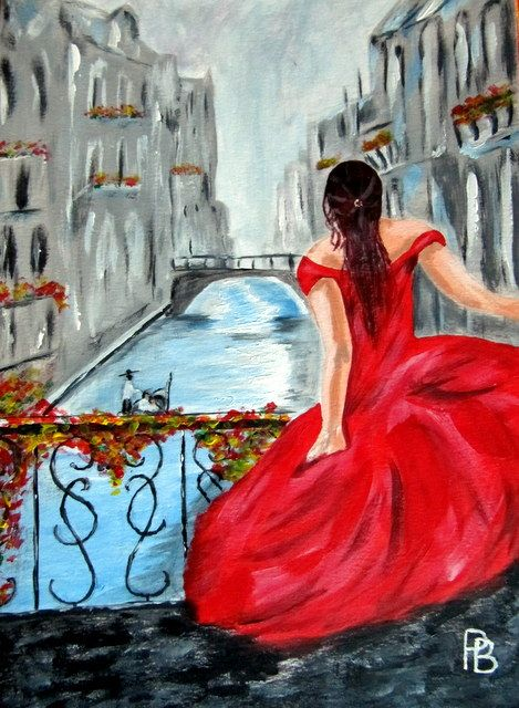 Lady in Venice. - Beckett's Art Page